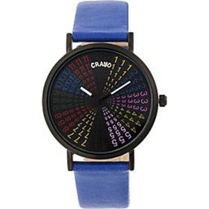 Crayo Fortune Leatherette-Band Women's Watch